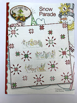 Snow Parade Piecing & Embroidery Quilt Pattern By Crabapple Hill Usa