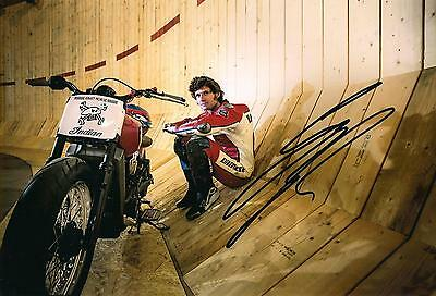 Guy Martin Signed 12 x 8 inch Wall of Death picture & we can show you proof.