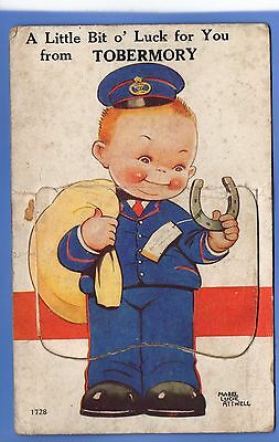 RARE 1924c TOBERMORY MULL NOVELTY FLAP POSTMAN MABEL LUCIE ATTWELL POSTCARD