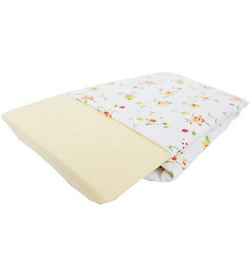 New Izziwotnot jersey cotton fitted moses basket sheets 2 pk primrose 30x74cm