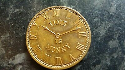 Time Is Money. George Allers Jeweller. Jersey City. 1899 Coin. Token.