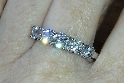 Sterling Silver Ring. 5 Stone Ring New . R