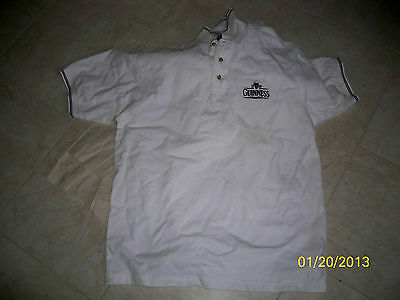 NEW Guinness Beer White Golf Polo Shirt Size Medium Free Shipping!!
