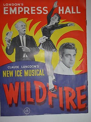 """London's Empress Hall """"new Ice Musical Wildfire"""" Programme 1955 -Frankie Vaughan"""