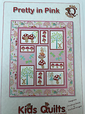 Pretty In Pink Child's Cot/crib Quilt Applique Pattern Kids Quilts New Zealand