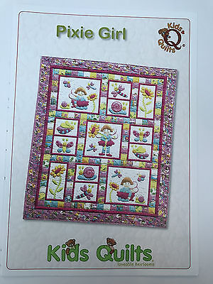 Pixie Girl Cot/crib Quilt Applique Pattern Kids Quilts New Zealand