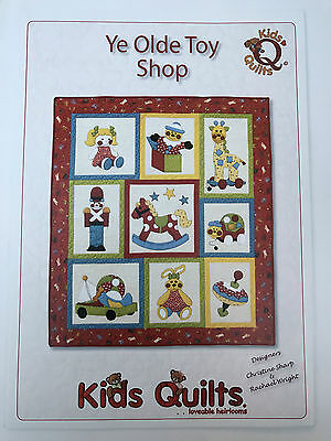 Ye Olde Toy Shop Child's Cot/crib Quilt Applique Pattern Kids Quilts New Zealand