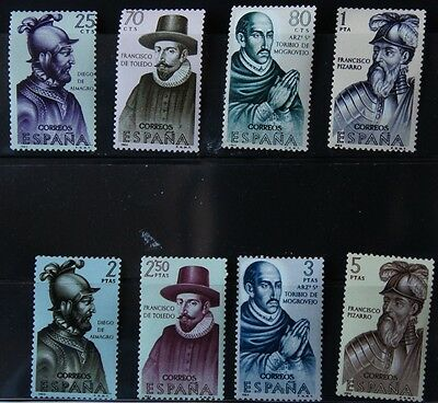 Spain Stamps 1964 Explorers and Colonisers Series 4 MNH SG 1683-1690 CV £ 7.25