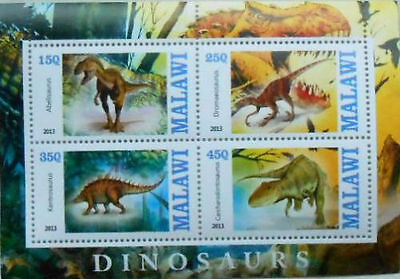Bloc Sheet Dinosaures Dinosaurs  Neuf MNH ** Malawi 2013  Private local/issue
