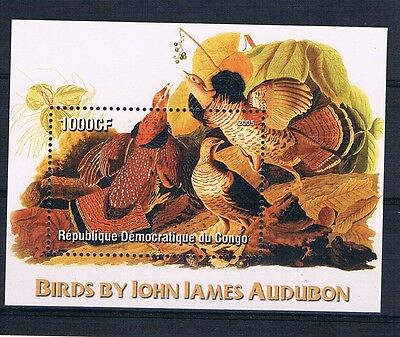 Bloc Sheet Oiseaux Birds Neuf MNH ** Congo 2005  Private local/issue