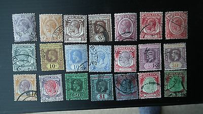 Stamps Straights Settlements George V. Various Used.