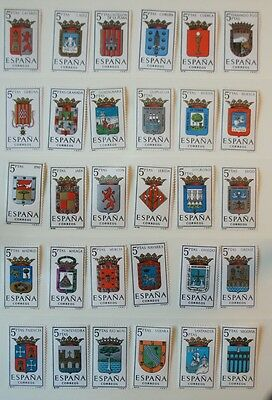 Spain Stamps 1962-64 Assortment of Regional Shields MNH