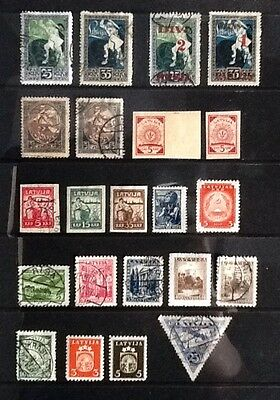 LATVIA useful earlier MH & Used collection - 22 stamps