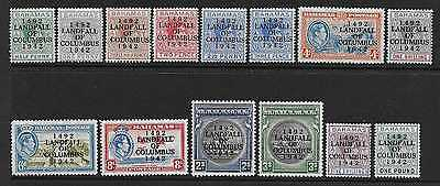 BAHAMAS  SG 162/75a  1942 COLUMBUS SET OF 14  VERY FINE MOUNTED MINT