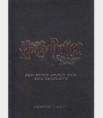 Harry Potter Half Blood Prince Crystal Glass Trading Card Cc02 Sdcc 2010 #53/80
