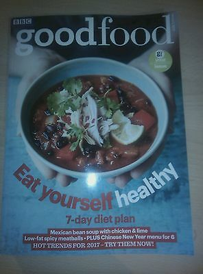 BBC good food Magazine Issue January 2017 *NEW* Plus 7 day diet plan