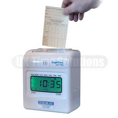 NT75N Time & Attendance Recorder (Includes 1000 Cards + Card Rack)