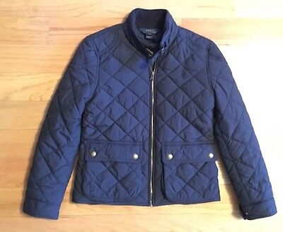 Polo Ralph Lauren Boys Quilted Barn Jacket Size M (8/10) Navy Blue