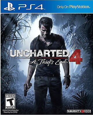 Uncharted 4: A Thief's End PlayStation 4 Ps4 Games Sony Brand New Factory Sealed