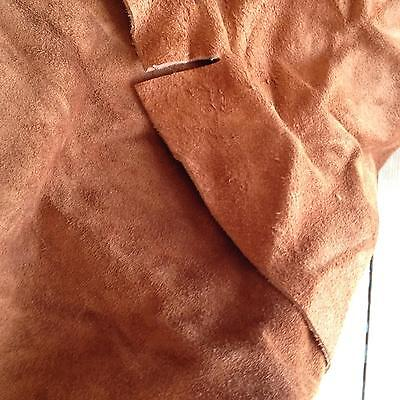 Real Brown Suede Skin 34 inches X 41 inches