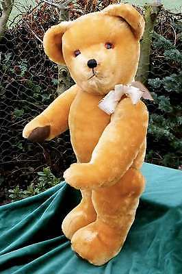 MAGNIFICENT  ANTIQUE / VINTAGE English  27 inch  MUSICAL  TEDDY BEAR.