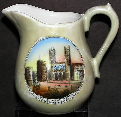 Notre Dame Church Place D'armes Souvenir China Luster Creamer Montreal Canada