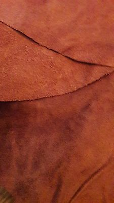 Real Brown Suede Skin 92cm x 72cm