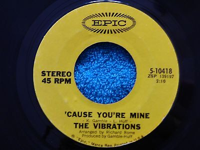 """Original Northern Soul Wigan R&b 7"""" Record 'cause You're Mine The Vibrations"""