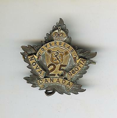 WWI 25th Canadian Infantry Battalion Cap Badge