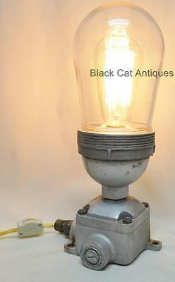 VINTAGE INDUSTRIAL KILLARK St. Louis Explosion Proof TABLE LAMP-Wired, Dimmer