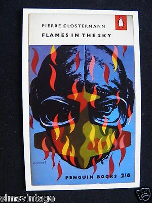 Penguin Book Cover Postcard Flames in the Sky Pierre Clostermann