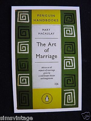 Penguin Book Cover Postcard The Art Of Marriage Mary Macaulay