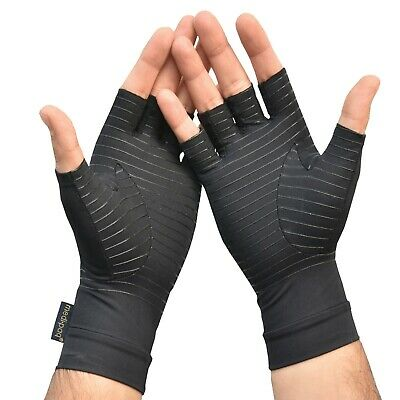 Anti ARTHRITIS Fingerless COPPER Compression Therapy Gloves Rheumatoid Hands