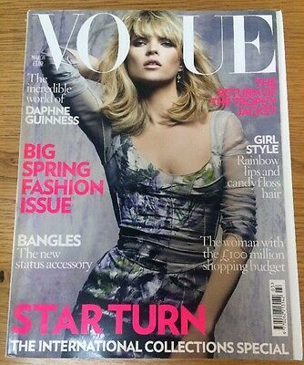 British Vogue, March 2008 Issue, Kate Moss Cover.