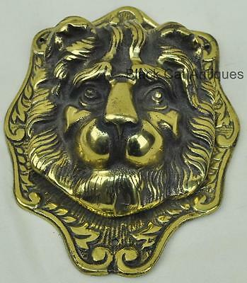 LARGE Vintage BEL of Gt Britian Brass LION HEAD DOOR KNOCKER 7 1/2IN 1Kg NOS