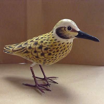 hand carved and painted Sandpiper