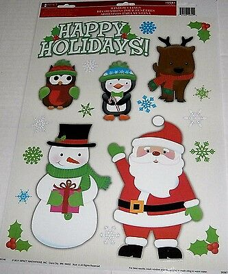 Christmas Window Clings   HAPPY HOLIDAYS