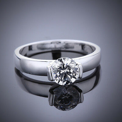 Fashion 925 Sterling Silver Jewelry Filled Engagement Wedding Ring Women Size 8