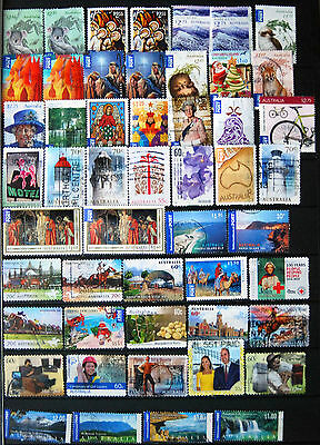Fine Collection of Good Used Recent Issues Australian Stamps, High Vs, Int Post.
