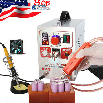 Pulse Spot Welder 500A Battery Welding Soldering Machine With Pen & Copper Head