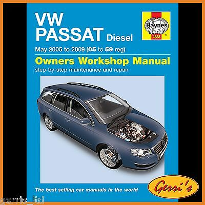 4888 Haynes VW Passat Diesel (June 2005 to 2010) 05 to 60 Workshop Manual