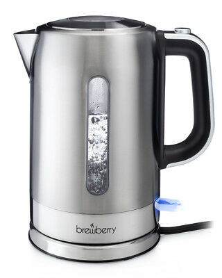 Brewberry Elite 1.7L Cordless Modern Stainless Steel Electric Kettle