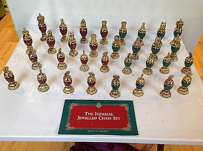 Vintage Franklin Mint House of Faberge Imperial Jewelled Chess Set - Booklet