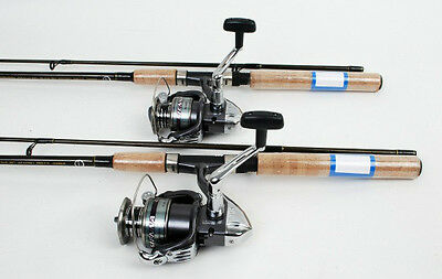 2 Shimano Sienna 4000 Spin Fishing Reels, 6.5ft Rods NEW