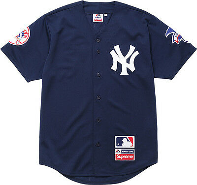 Supreme New York Yankees NY jersey trikot L fog fear of god size L yeezy