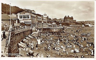 """RPPC Of """"  Spa and Sands , Scarborough """" unused card"""