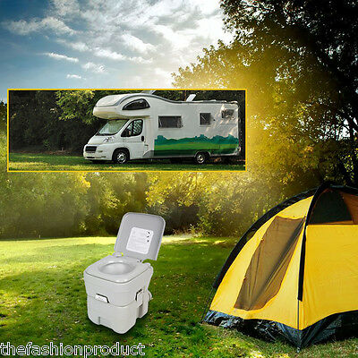 20L Portable Camping Toilet Outdoor Chemical Tent Toilet Potty Boat Caravan