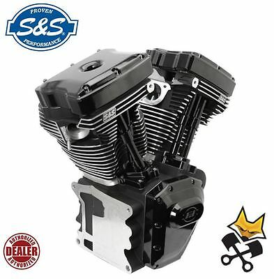 """S&s T143 Long Block Black Edition 143"""" Engine Harley 99-06 Twin Cam 310-0833"""