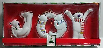 Polar Bears Set Of 3 American Greetings New Christmas Ornaments In Box New
