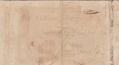 New Brunswick Canada 1794 Wrapper St John to London UK Falmouth Packet